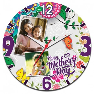 Mother's Day Special Round Clock 03