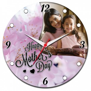 Mother's Day Special Round Clock 04