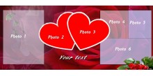 Orange heart handled personliazed photo mug Design 267