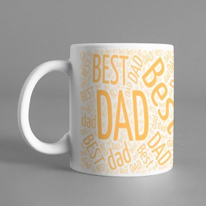 Photo Sketch Classic photo mug print with Best DAD backview