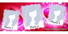 Red Heart Handled Magic Mug Personalized with photo Design 24