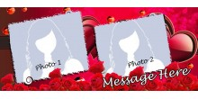 Red Heart Handled Magic Mug Personalized with photo Design 30