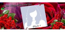 Red Heart Handled Magic Mug Personalized with photo Design 31