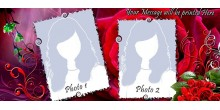 Red dual tone personalized photo mug Design 32