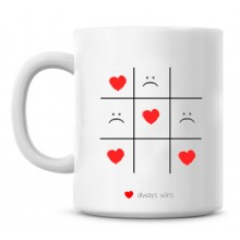 Tic Tac Toe personalized romantic mug backview