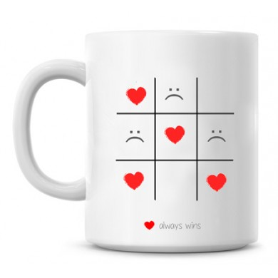 Tic Tac Toe personalized romantic mug
