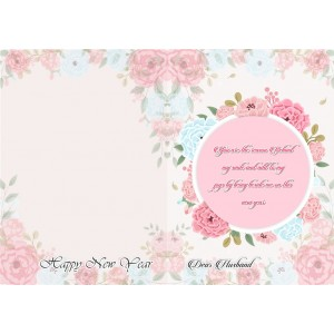 Personalized New Year Greeting Card for husband 006 backview