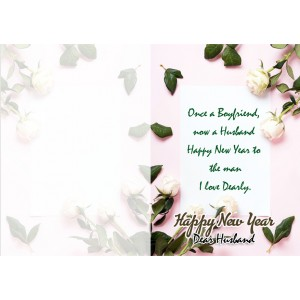 Personalized New Year Greeting Card for husband 005 backview