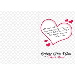 Personalized New Year Greeting Card for husband 003 backview
