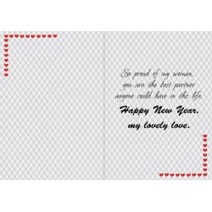 Personalized New Year Greeting Card for wife 001 backview