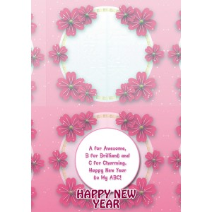 Personalized New Year Greeting Card universal 010 backview