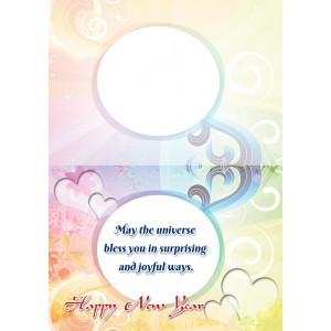 Personalized New Year Greeting Card universal 011 backview