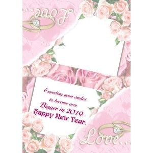 Personalized New Year Greeting Card universal 014 backview
