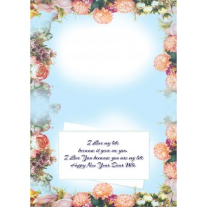 Personalized New Year Greeting Card for wife 017 backview