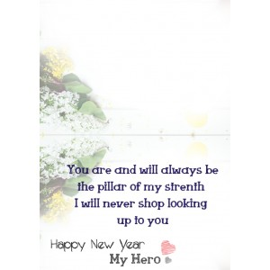 Personalized New Year Greeting Card for husband or boyfriend 018 backview