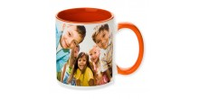 Your Design Orange Handle and Inside orange mug