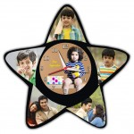 Our Superstar personalized clock with 6 pictures