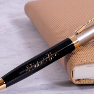 Personalized Executive ball pen with Engraved Text backview