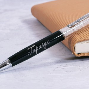 Personalized Executive Pearl Ball Pen with Engraved Name backview
