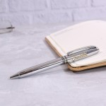Personalized Executive Silver Ball Pen with Engraved Name