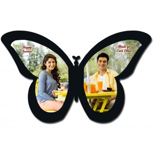 Personalised wooden photo butterfly wall hanging