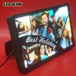 Personalized 6 Photo Best Holiday Collage glow in dark LED frame