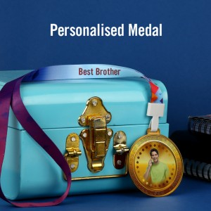 Personalized Acrylic Best Brother Medal with Photo and Text with Ribbon