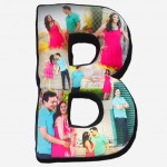 Personalized alphabet collage pillow with photo-large