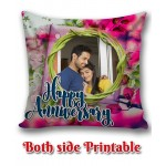 Personalized Anniversary Cushion one side photo back side message gift 01