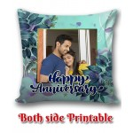 Personalized Anniversary Cushion one side photo back side message gift 02