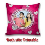 Personalized Anniversary Cushion one side photo back side message gift 05