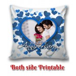 Personalized Anniversary Cushion one side photo back side message gift 06