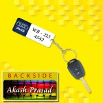 Personalized Audi Car key ring with name and number and logo