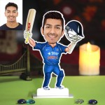 Personalized Batsman Caricature Photo Stand In