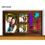 Personalized Best Couple glow in dark LED frame