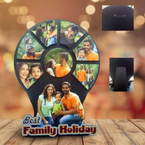 Personalized Best Family Holiday multi layer MDF frame