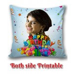 Personalized Birthday Cushion one side photo back side message gift 01