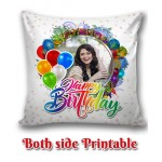 Personalized Birthday Cushion one side photo back side message gift 02