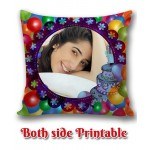 Personalized Birthday Cushion one side photo back side message gift 03