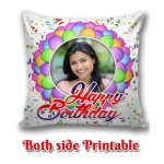 Personalized Birthday Cushion one side photo back side message gift 04