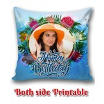 Personalized Birthday Cushion one side photo back side message gift 05