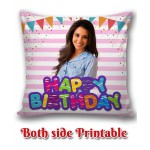 Personalized Birthday Cushion one side photo back side message gift 06