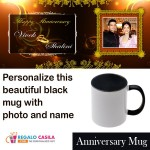 Personalized black mug for Anniversaries