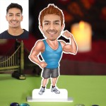 Personalized Body Builder Caricature Photo Stand In