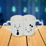 Personalized Cartoon male female photo mug set