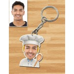 Personalized Chef Caricature Key Ring