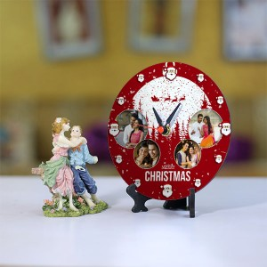 Personalized Christmas dial Table round clock 001 Size 5.5 X 5.5 Inch