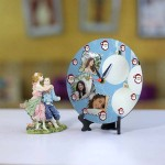 Personalized Christmas Dial Table round clock 002 Size 5.5 X 5.5 Inch