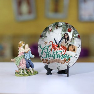 Personalized Christmas Dial Table round clock 003 Size 5.5 X 5.5 Inch