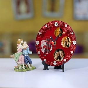 Personalized Christmas Dial Table round clock 004 Size 5.5 X 5.5 Inch